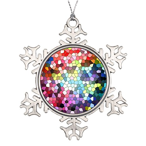 Moc Moc Tree Branch Decoration Stained Glass Cool Christmas Snowflake Ornaments Snowman Christmas Snowflake Ornaments