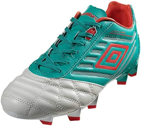 Umbro Youth Kids//Boys Medusae Premier Junior FG Soccer Cleats 5.5Y, Dawn Blue//Red//Green