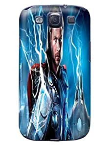 3D cute cartoon PC skin back with texture For Case Samsung Galaxy S3 I9300 Cover of Chris Hemsworth Thor in Fashion E-Mall