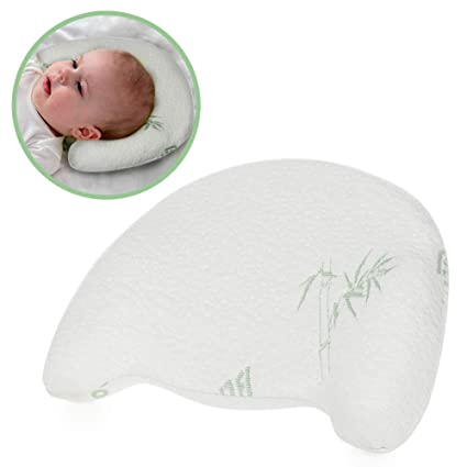 Amazon Com Baby Head Shaping Memory Foam Pillow To Prevent Flat
