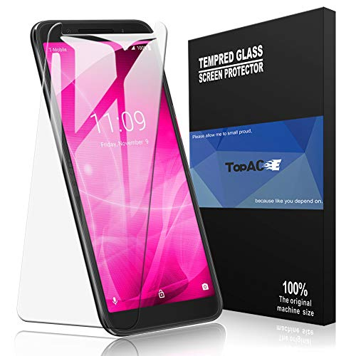 T-Mobile REVVL 2 Screen Protector, TopACE T-Mobile REVVL 2 Tempered Glass 9H Hardness [Case Friendly][Anti-Scratch][Bubble Free] Compatible for T-Mobile REVVL 2 (2 Pack)