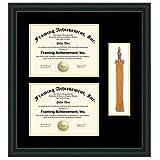 Double diploma frame graduation tassel holder box high school degree college certificate university matted black