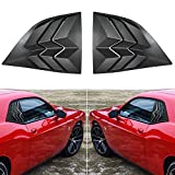 Yoursme 2PCS Side Window Louvers Black ABS Sun Shade Windshield Cover Fits for 2008-2019 Dodge Challenger