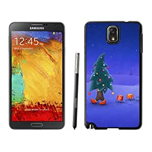 Recommend Design Walking Christmas Tree Man Samsung Galaxy Note 3,Samsung N9005 Black TPU Cover Case by lolosakes