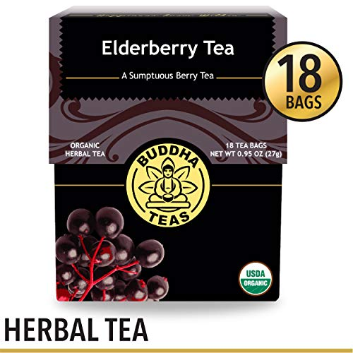(Organic Elderberry Tea, 18 Bleach-Free Tea Bags - Organic Tea Strengthens the Immune System, Supports Upper Respiratory Health, and Is a Great Source of Antioxidants, No GMOs)