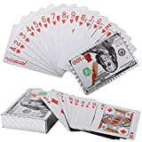 Joyoldelf Waterproof Playing Cards, Silve Foil