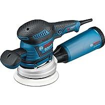 Bosch Professional Lijadora excéntrica GEX 125-150 AVE (2 platos lijadores, Ø de plato lijador: 125/150mm, 2 hojas de lija, empuñadura adicional, maletín L-BOXX, 400W)