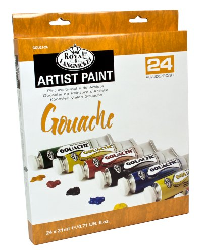 Royal & Langnickel GOU21-24 Gouache Color Artist Tube Paint, 21ml, 24-Pack