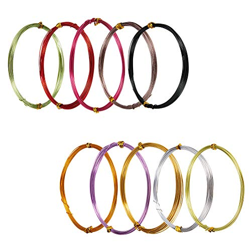 luminum Craft Wire 20 Guage Flexible Artistic Floral Colored Jewely Beading Wire for DIY Jewelry Craft Making Each Roll 16 Feet ()