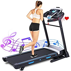 Well-Being-Matters 51DZZgmifsL._SS300_ ANCHEER Treadmill, 3.25HP APP Folding Treadmills with Automatic Incline, Walking Running Jogging Machine for Home/Gym…