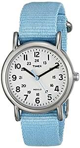 Timex Women's T2P0759J Weekender Pastel Blue Slip Thru Nylon Strap Watch
