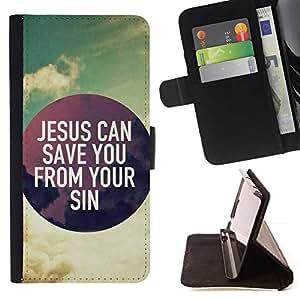 Momo Phone Case / Flip Funda de Cuero Case Cover - BIBLIA Jesús puede salvarlo de sus pecados; - HTC One M8