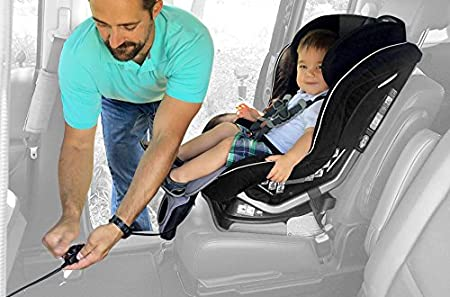 by Breezy Kids Front Facing Car Seat Only Gray BreezyPad Baby Car Seat Cooling Pad Liner with Fan