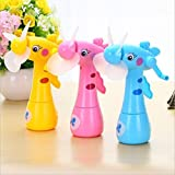 Foreign Holics Beautiful Design Water Fan Toy for Kids Play Deer Shaped Safe Portable Mini Fan (2 pcs)