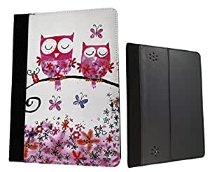 """Funky Love Owl Owls Butterflies Design Amazon Kindle Fire HD 7"""" 2nd Generation 2013 Fashion Trend Full Case Book Style Flip cover Defender Credit Card Holder Pouch Case Cover iPhone Wallet Purse"""