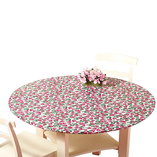 Fitted Elastic Table Cover Strawberries