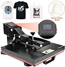 Seeutek Heat Press Machine 15x15 inch Industrial Digital Heat Transfer Printing Machine Clamshell Sublimation for T Shirt