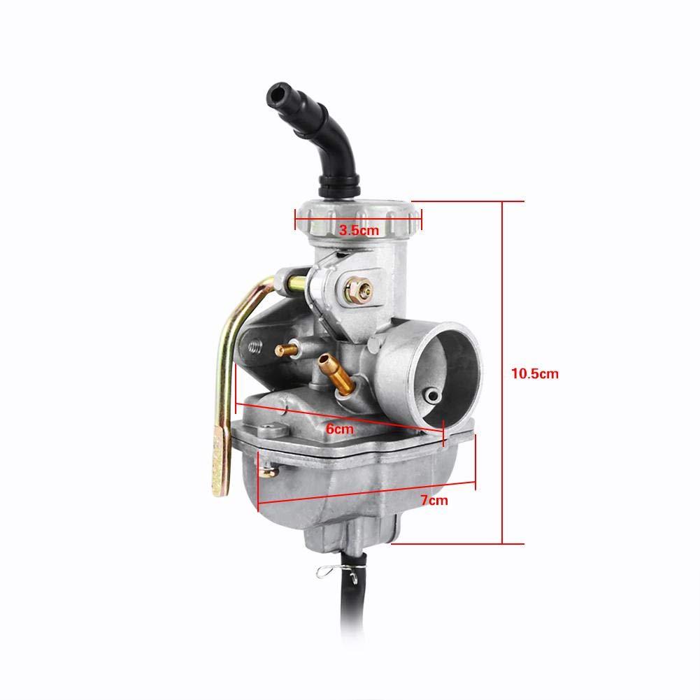 Moto Carburatore Sincronizzazione Moto DirtBike Carburatore per PZ20 50cc 70cc 90cc 110cc 125cc ATV Quad Go-kart Carburatore CARB TAOTAO SUNL NUOVO