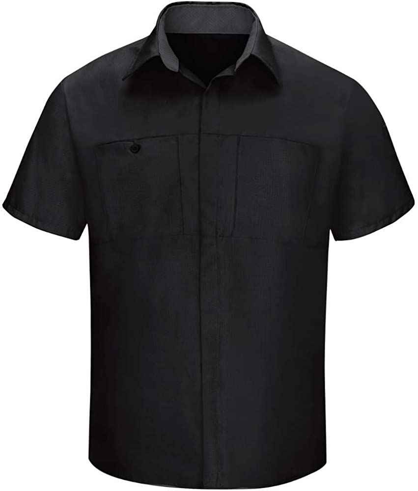 Red Kap Men's Long Sleeve Performance Plus Shop Shirt with OilBlok Technology