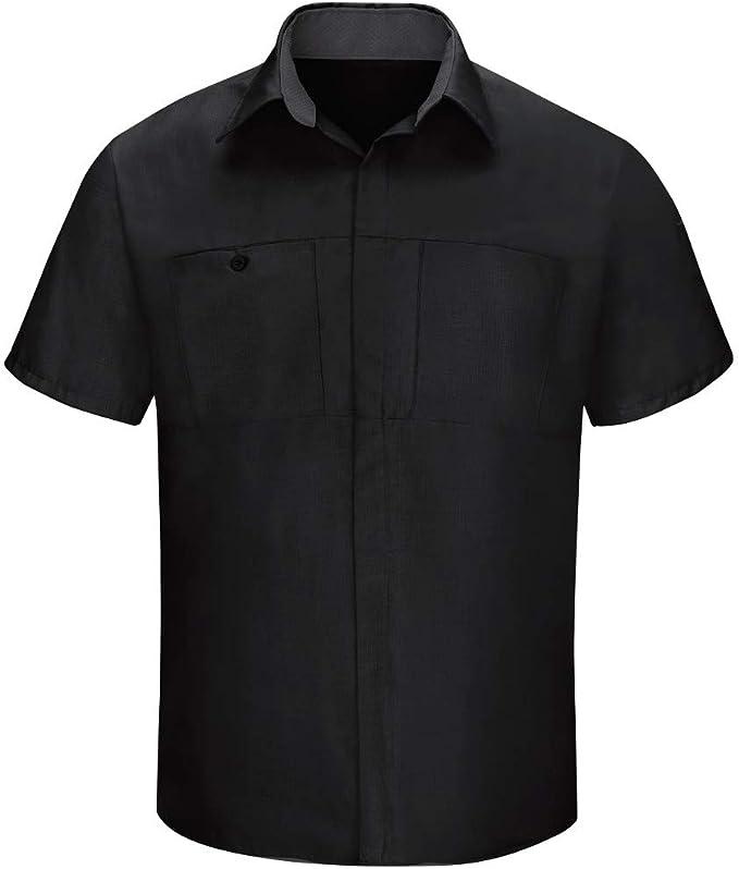 Red Kap Men/'s Long Sleeve Crew Work Shirt Charcoal//Royal Blue