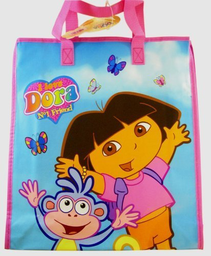 a8e1aac360ae Image Unavailable. Image not available for. Color  Nick Jr Dora The Explorer  Large Woven Tote Bag