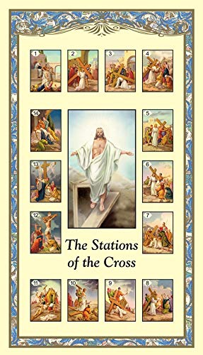 Stations of the Cross Holy Card with Prayer Bulk Set, Pack of 24
