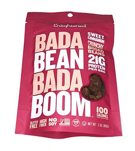 (Enlightened Bada Bean Bada Boom Crunchy Broad Beans 3 oz - 6 Bags (BADA BEAN SWEET CINN 3oz 6PK))