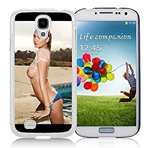 Kate Upton Sexy Wet T Shirt White Samsung Galaxy S4 Cellphone Case DIY and Durable Cover