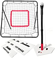 Franklin Sports MLB Baseball Youth Starter Set - Includes a 36 x 36 Inch Pitch Back Returner, Four Piece Base