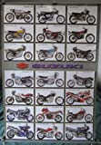 Suzuki motorcycles history POSTER #B 23.5 x 34 with 24 different motorcycle models motorbikes (poster sent from USA in PVC pipe)
