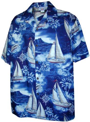 Aloha Sailboats Hawaiian Shirts Mens Hawaiian Shirts