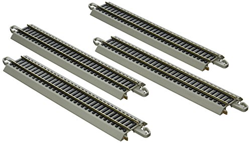 Gray Roadbed Ez Track (Bachmann Trains Snap-Fit E-Z Track Nickel Silver Reversing 9