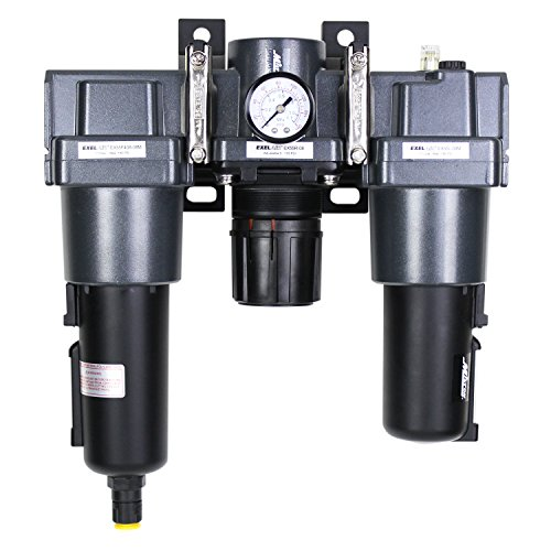 Pressure High Regulators Air (EXELAIR by Milton FRL (High Flow) Air Filter, Regulator, and Lubricator System - 1