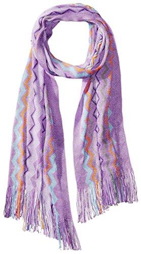 MISSONI Women's Zig Zag Scarf, Purple