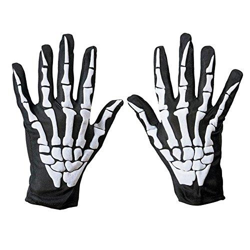 Bone Gloves Skeleton Gloves Skull Gloves Halloween Performance Props Bone Skeleton Pattern Funny Gloves Finger Bone Skeleton Costume Gloves One-size for $<!--$4.88-->