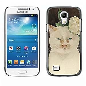 Usted Sassy gatito! - Metal de aluminio y de plástico duro Caja del teléfono - Negro - Samsung Galaxy S4 Mini i9190 (NOT S4)