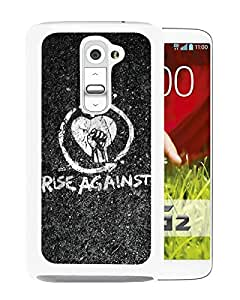 rise against White Newest Custom Design LG G2 Phone Case