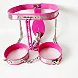 ZHS Metal Male Chastity Cage Stainless Steel Chastity Belt Slave BDSM Bondage Fetish Lockable Penis Restraint Device With Anal Plug (1PC)