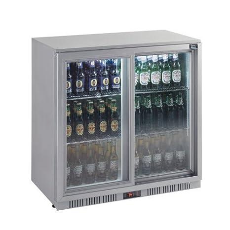 Lec Back Bar enfriador de botellas Botellas de puertas correderas ...