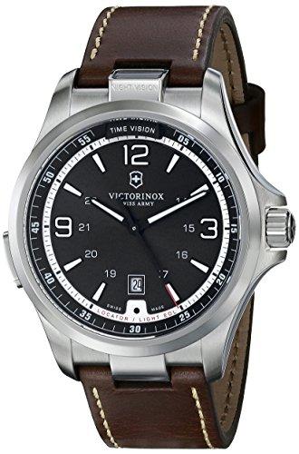 Victorinox Men's 249068 Night Vision Analog Display Swiss Quartz Brown Watch