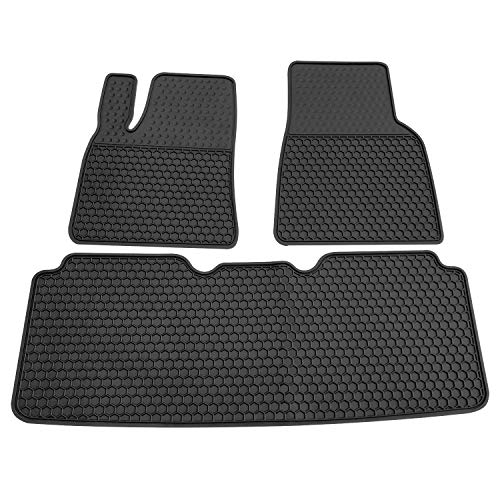 biosp Floor Mats for Tesla Model S 2016 2017 2018 2019 All Weather Car Carpet Black Front and Rear Set Heavy Duty Rubber Liners Odorless