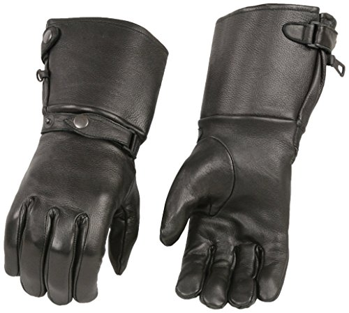 Shaf International Men's Long Cuff Deer Skin Gloves (Black, X-Large) by Shaf International