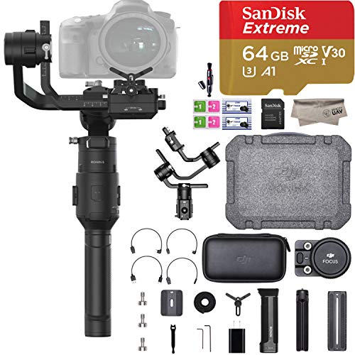 DJI Ronin-S Standard Kit 3-Axis Gimbal Stabilizer for Mirrorless and DSLR Cameras Comes with 64GB Micro SD, Focus Wheel, Accessories Box, 1 Year Limited Warranty, Black (CP.ZM.00000103.02)