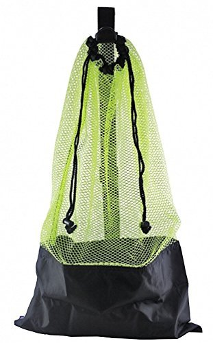 Cheap ScubaMax Mesh Bag Draw String w/Shoulder Strap (Yellow, One Size)