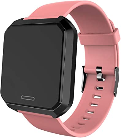 Businda Tempered Glass Screen Custom Wallpaper Smart Watch 1 3 Inch 240240 Ip67 Waterproof Heart Rate Monitoring Blood Pressure Fitness Tracker Smartwatch For Android Iphone Pink Amazon Co Uk Kitchen Home