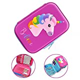 Unicorn Pencil Case Pen Pouch Hard Shell Pencil Box with Compartments Stationery Box Stationery Organizer Unicorn Pens Case for School Students Kids