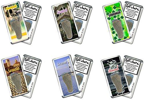 - Savannah FootWhere Souvenir Magnets. 6 Piece Set. Made in USA