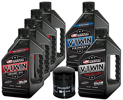 Clutch Oil - MaximaHiflofiltro VTTOCK12 Complete Engine Oil Change Kit for V-Twin Full Synthetic Harley Davidson Twin Cam, 6 Quart