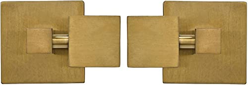 Square Brushed Gold Pivot Mirror Hardware Tilting Anchors for Mirror or Picture Glass or Plexiglass