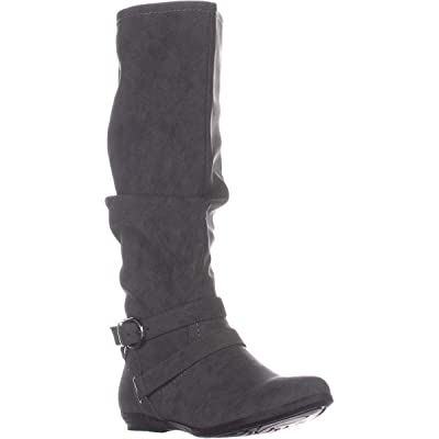 CLIFFS BY WHITE MOUNTAIN Womens Fairfield Buckle Riding Boots | Knee-High